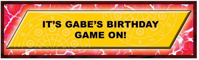 bakugan personalized party banner
