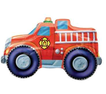 Fire Truck Mylar Balloon