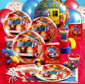 Firetruck party supplies