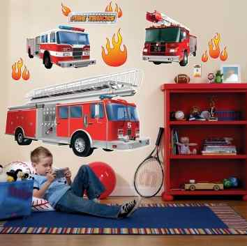 Fire Truck Removable Wall Decal
