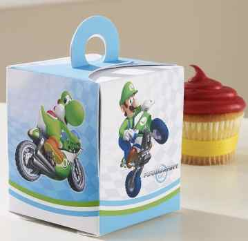 Mario Kart Birthday Cake and Cupcakes