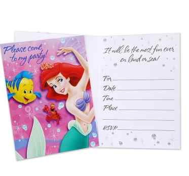 little mermaid party invitations little mermaid pinata - Little Mermaid Party Invitations