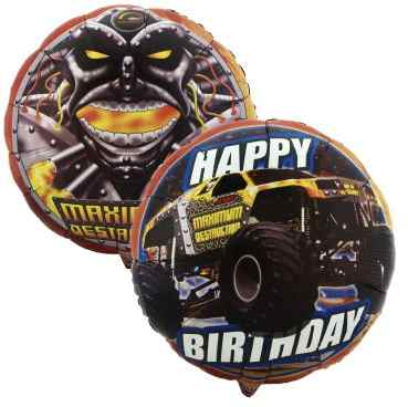 Monster Jam Mylar Balloons