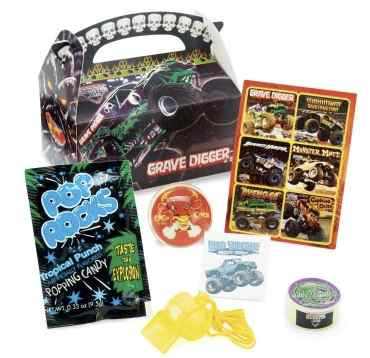 Monster Jam Trucks Party Favors