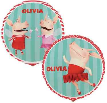 Olivia the Pig Mylar Balloons
