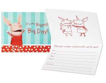 Olivia the pig party invitations