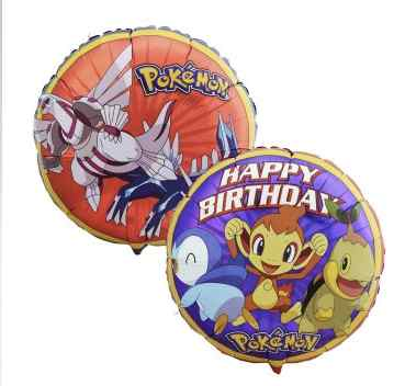 pokemon party decorations mylar foil balloons
