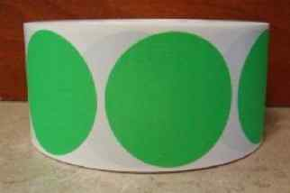 large green circle dots
