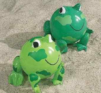 inflatable frog