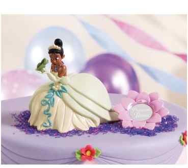 Princess and the Frog Birthday Cake and Cupcakes
