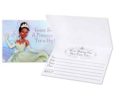Princess and The Frog Party Invitations