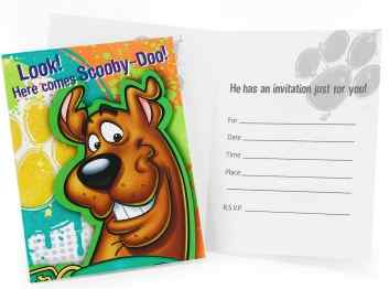 Scooby Doo Party Invitations