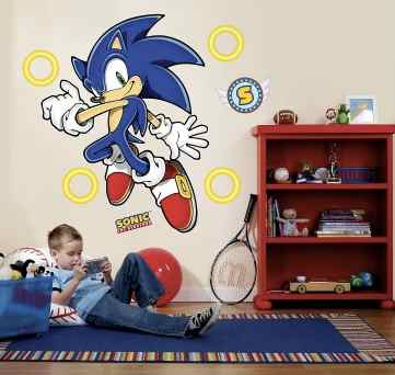 sonic the hedgehog wall decals party decorations