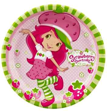 strawberry shortcake paper plates