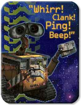 Wall E Birthday Party Invitations